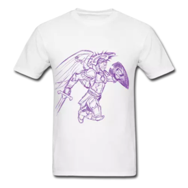 Hand Drawn Warrior Angel of God Promotional Clothing