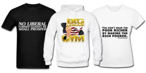 Cool custom promotional clothing apparel t-shirt tshirt hoodie tank top designs from the Political category.